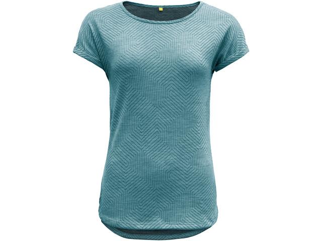 Devold Trollstigen T-shirt zippé Femme, bay